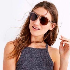 Madewell Memphis Gray Half Frame Sunglasses